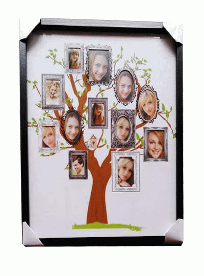 Colorful Family Tree Collage Photo Frame Model - Custom Picture ...