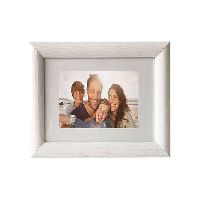 White classical gift photo frame 10 x 15 cm | wholesale MDF photo ...