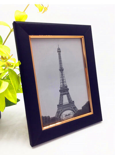 Golden decoration picture frame 10 x 15 cm with hanger